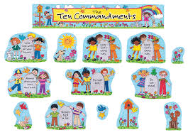 children u0027s ten commandments bulletin board display set tcr7000