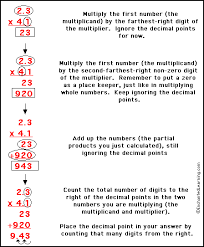 multiplying decimals enchantedlearning com