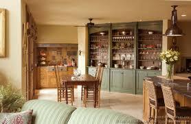 green painted kitchen cabinets interior design