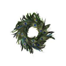 Peacock Home Decor Shop Schlappen Peacock Wreath Kelly Natural