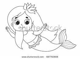 character cartoon children beautiful mermaid stock vector