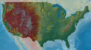 Elevation Map Usa by Elevation Maps Of Italy France Usa Sweden And Norway Album On