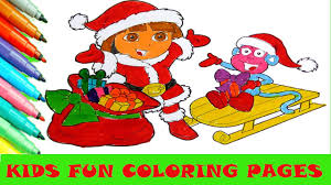 dora cartoon coloring page kids fun art color activity color book