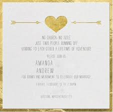 elopement invitations elopement celebration invitations wordings cheap post wedding
