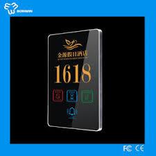 type de chambre d hotel la chine type microlite panneau tactile chambre d hôtel des plaques
