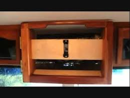 Rv Under Cabinet Tv Mount The Tv Cabinet Upgrade Youtube