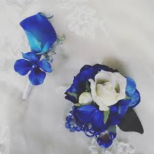 royal blue corsage blueflowers artificialflowers weddingflowers from my etsy shop