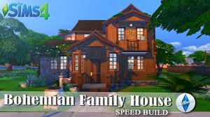 bohemian family house part 2 2 the sims 4 speed build youtube