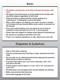 table tennis doubles rules allen and sons table tennis club rules