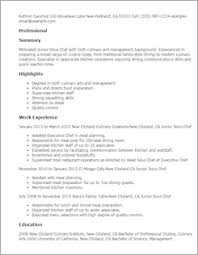 Sous Chef Resume Sample by Culinary Resume Templates To Impress Any Employer Livecareer