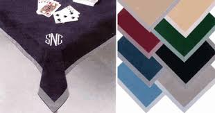 what size tablecloth for card table personalized bridge card and table game covers classic