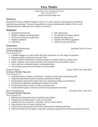 Summary Examples For Resumes by Unforgettable Extrusion Operator Resume Examples To Stand Out