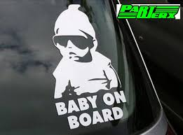 vauxhall ford baby on board sticker sign for ford vauxhall peugeot citroen