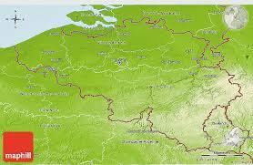physical map of belgium physical 3d map of belgium
