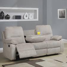 Chenille Reclining Sofa by Tribecca Home Corbridge Light Beige Chenille Double Recliner Sofa
