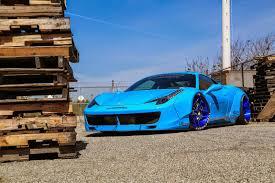 Ferrari 458 Blue - liberty walk widebody ferrari 458 italia factory house