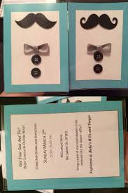 diy mustache and bow tie baby shower invitations keeping it