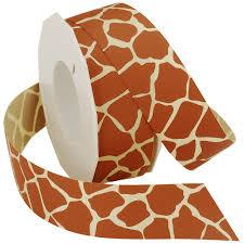 amazon com morex ribbon giraffe grosgrain ribbon 3 8 inch by 20