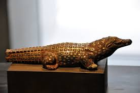 crocodile statue from ancient egypt illustration ancient