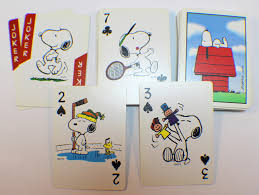 snoopy cards deck of cards snoopy peanuts 50th celebrationhoyle cartes