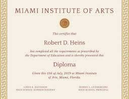 diploma samples certificates diploma certificate templates canva