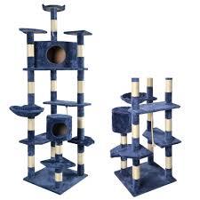 80 u0026 034 navy blue cat tree condo furniture scratching post pet
