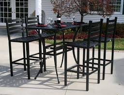 metal bar height table audacious height table chairs ideas outdoor patio furniture bar