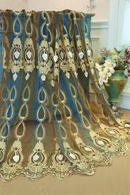 luxury ready made window curtain treatment jacquard floral