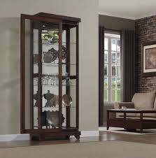 Kitchen Cabinets Sliding Doors by Astounding Brown Color Wooden Kitchen Console Curio Cabinet