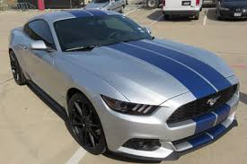 Blue Mustang Black Stripes Black Strips Or White Strips On Deep Blue Impact Mustang Evolution