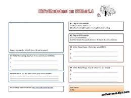 free printable kid worksheets on feelings building self esteem