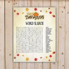 thanksgiving word scramble with autumn leaves