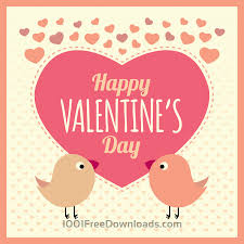 free vectors valentines card background with birds and text