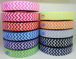 printed grosgrain ribbon 7 8 free shipping 11 colors mixed chevron printed grosgrain ribbon