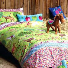 horse quilt bedding set cartoon polyester cotton brown color 3d