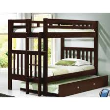 Donco Bunk Bed Cappuccino Mission Bunk Bed With End Ladder Hugo