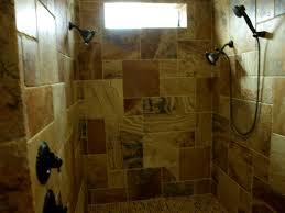 blue wall paint natural stone decorative backsplash tile shower