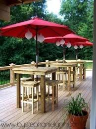 Building A Patio Table Outdoor Bar Height Table Foter