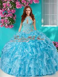 fifteen dresses beaded and ruffled big quinceanera dresses with halter top