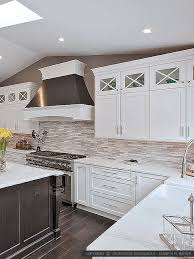 Modern White Gray Subway Marble Backsplash Tile - Modern backsplash tile