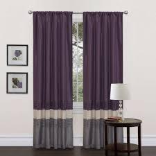 curtain drapes panels window treatment with purple multi color