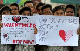 indonesia bans valentine s day the star