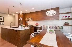 mid century modern galley kitchen vintage island wooden cabinet
