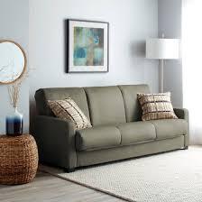 Sofa Sleeper Walmart Handy Living Trace Convert A Grey Microfiber Futon Sofa