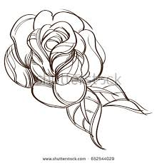 bud rose tattoo stock images royalty free images u0026 vectors