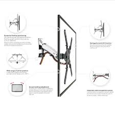 Cable Management System For Wall Mounted Tv F400 Gas Strut Full Motion Tv Mount For Tv Up To 60