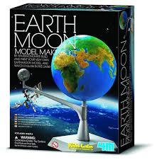 amazon com 4m earth and moon model kit toys u0026 games