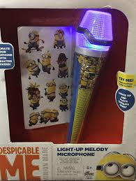 Despicable Me Christmas Lights by Amazon Com Despicable Me Minion Made Light Up Melody Microphone