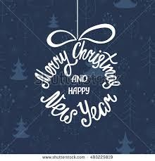 merry happy new year handdrawn stock vector 493225819