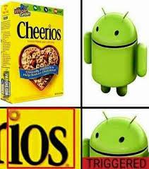 Ios Meme - cheer ios triggered comics know your meme